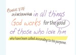 Romans 8:28 - And we know that in all things God works for the good of those who love him, who are called according to his purpose.