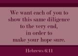 Hebrews 6:11