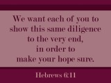 Hebrews 6:11