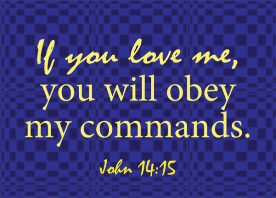 John 14:15 - If you love me, you will obey my commands.