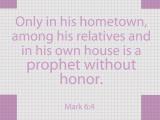 Mark 6:4