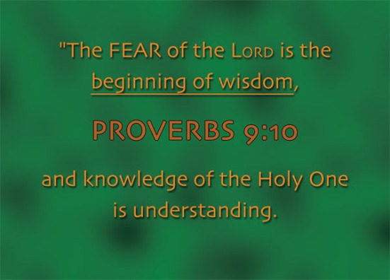 Proverbs 9:10 - The fear of the Lord is the beginning of wisdom, and knowledge of the Holy One is understanding.