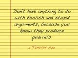 2 Timothy 2:23