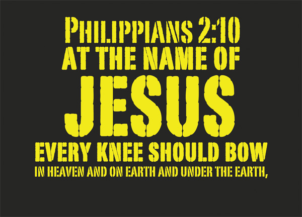 Image result for That at the name of Jesus every knee should bow