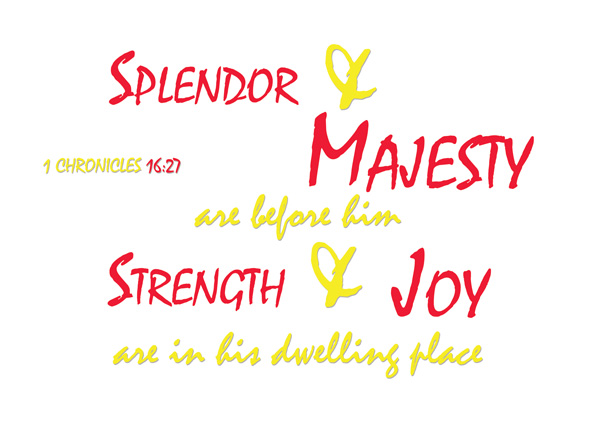 1 Chronicles 16:27 | re-Ver(sing) Verses