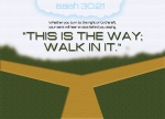 """Isaiah 30:21 - Whether you turn to the right or to the left, your ears will hear a voice behind you, saying, """"This is the way; walk in it."""""""