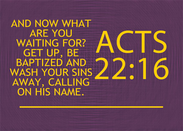 Acts 22 16 Re Ver Sing Verses