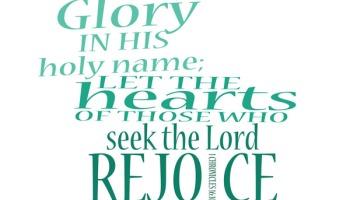 1 Chronicles 16:11 | re-Ver(sing) Verses