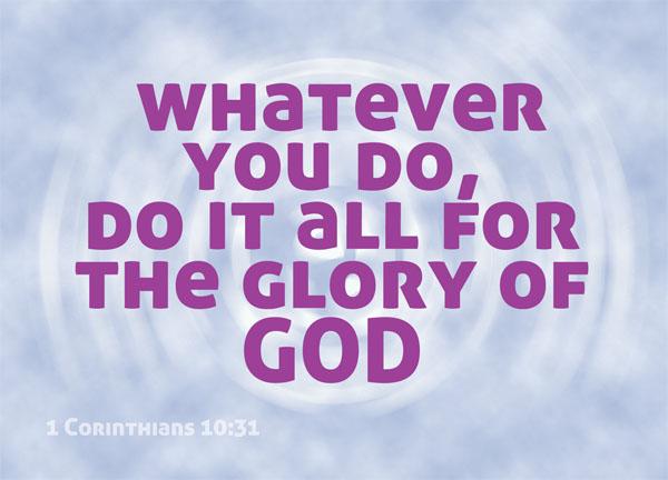 1 Corinthians 10:31 | re-Ver(sing) Verses