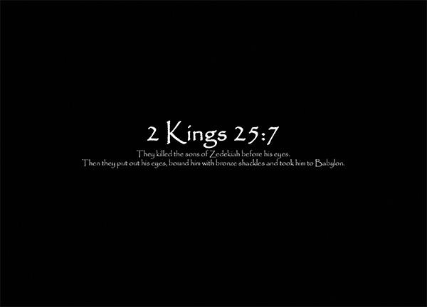 2 Kings 25 7 Re Ver Sing Verses