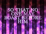 1 Corinthians 1:29